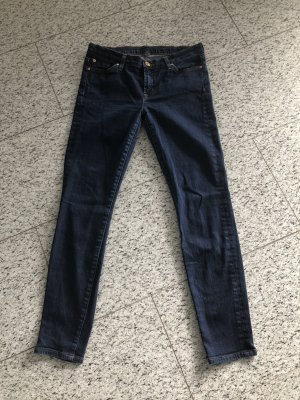 7 For All Mankind Skinny jeans donkerblauw-blauw