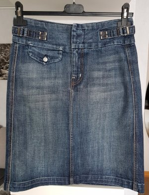 7 For All Mankind Rock Jeansrock W25 wie W26 (Gr.36) Knielang Top Zustand