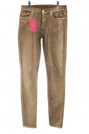 7 For All Mankind Pantalon cigarette bronze style décontracté