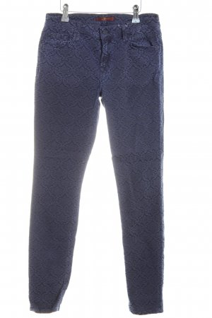 7 For All Mankind Röhrenhose blau Allover-Druck Casual-Look