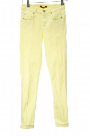 7 For All Mankind Pantalón de tubo amarillo pálido look casual