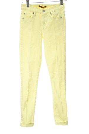 7 For All Mankind Pantalone a sigaretta giallo pallido stile casual