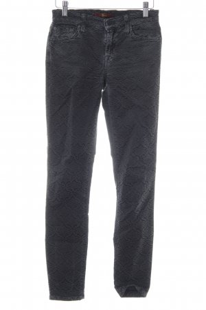7 For All Mankind Röhrenhose dunkelgrau Ornamentenmuster Casual-Look