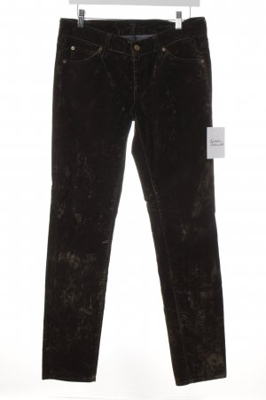 7 For All Mankind Drainpipe Trousers green grey spots-of-color pattern