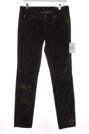 7 For All Mankind Pantalón de tubo gris verdoso estampado con puntos de colores