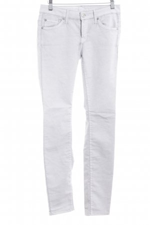 7 For All Mankind Regenpijpbroek lichtgrijs gestippeld casual uitstraling