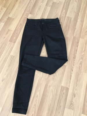7 For All Mankind Drainpipe Trousers black