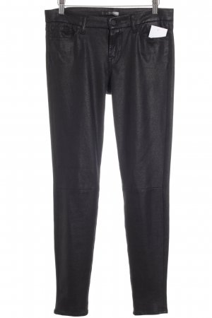 7 For All Mankind Röhrenhose schwarz Animalmuster Party-Look