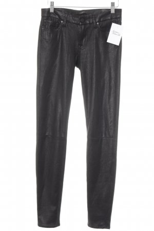7 For All Mankind Röhrenhose schwarz Punktemuster Casual-Look