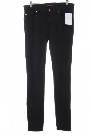 7 For All Mankind Drainpipe Trousers black-silver-colored casual look