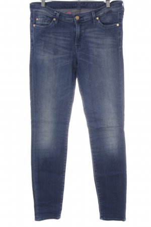 7 For All Mankind Drainpipe Trousers steel blue casual look