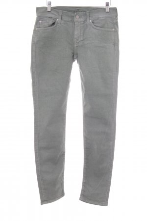 7 For All Mankind Röhrenhose weiß-khaki meliert Casual-Look