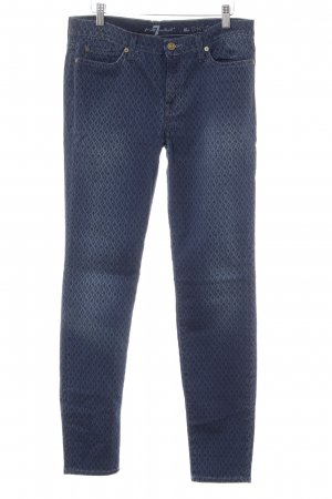 7 For All Mankind Röhrenjeans abstraktes Muster Casual-Look