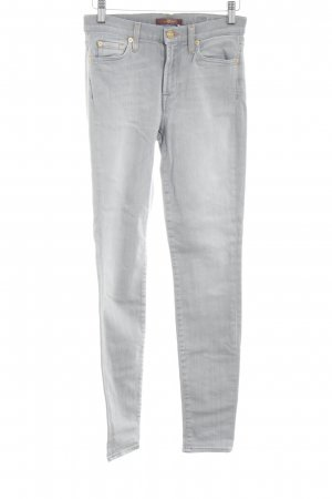 7 For All Mankind Jeans cigarette gris clair style décontracté