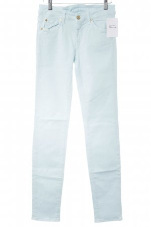 7 For All Mankind Röhrenjeans babyblau Casual-Look