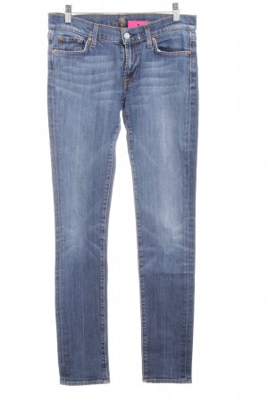 7 For All Mankind Vaquero pitillo azul-azul acero look casual