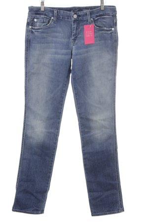 "7 For All Mankind Jeans a sigaretta ""carol"" blu acciaio"