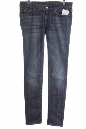 7 For All Mankind Röhrenjeans dunkelblau Casual-Look