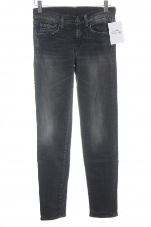7 For All Mankind Röhrenjeans dunkelblau-hellbraun Washed-Optik