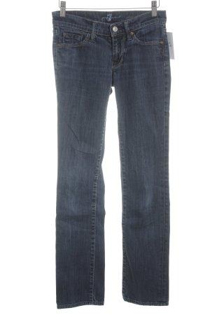 7 For All Mankind Jeans a sigaretta blu scuro stile semplice