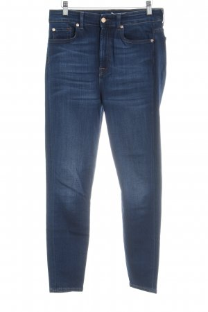 7 For All Mankind Jeans a sigaretta blu scuro look pulito