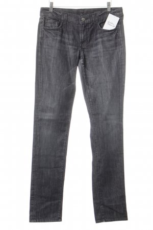 7 For All Mankind Röhrenjeans dunkelgrau Jeans-Optik