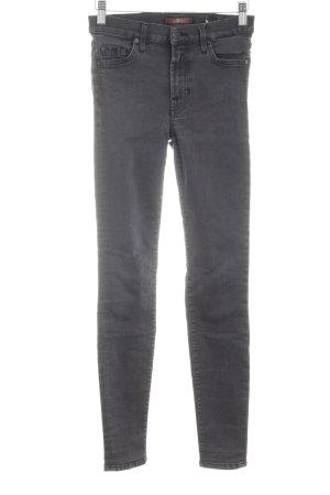 7 For All Mankind Jeans cigarette noir-gris clair style décontracté