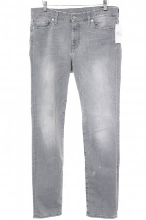 7 For All Mankind Tube jeans grijs-lichtgrijs zure was