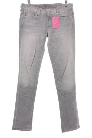 7 For All Mankind Jeans a sigaretta grigio-grigio chiaro stile casual