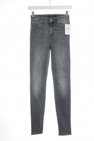 7 For All Mankind Röhrenjeans graublau Casual-Look