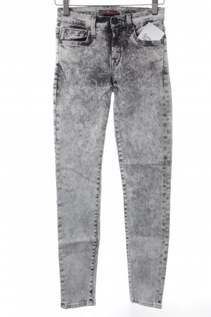 7 For All Mankind Röhrenjeans hellgrau-grau Jeans-Optik