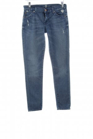 7 For All Mankind Vaquero pitillo azul celeste-azul aciano look vintage
