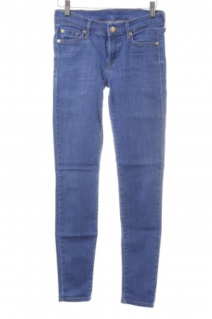 7 For All Mankind Jeans a sigaretta blu fiordaliso stile casual