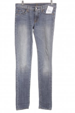 7 For All Mankind Röhrenjeans kornblumenblau Casual-Look