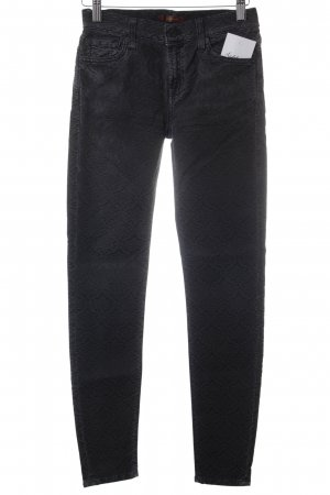 7 For All Mankind Tube Jeans black-dark grey Aztec pattern jeans look