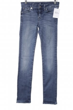 7 For All Mankind Röhrenjeans stahlblau Casual-Look