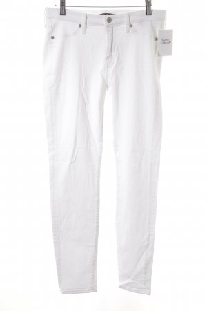 7 For All Mankind Vaquero pitillo blanco estilo sencillo