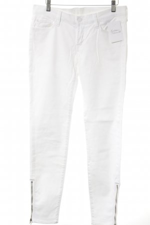 7 For All Mankind Jeans cigarette blanc style simple