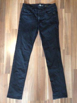 7 for all mankind roxanne schwarz Mide rise slim black denim Jeans