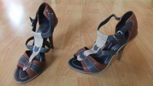 7 For All Mankind Strapped Sandals dark blue leather