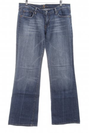 7 For All Mankind Pantalone a zampa d'elefante blu stile jeans