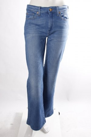 7 for all Mankind Schlagjeans hellblau