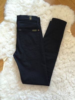 7 for all mankind schwarze Jeans high waist 24 high rise skinny Hose röhre