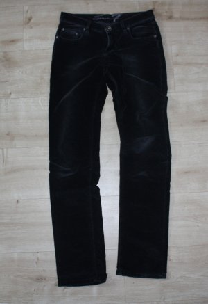 7 for all Mankind schwarze Samthose Size: 28