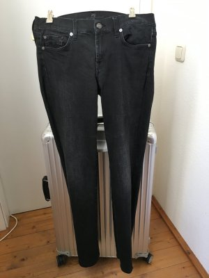 7 for all mankind, schwarze Stretch Jeans