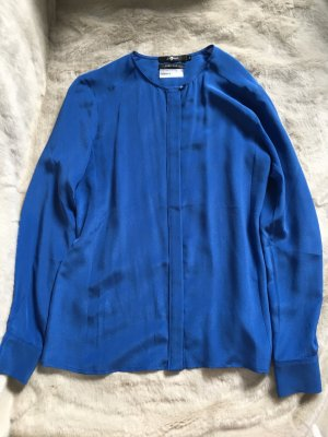 7 For All Mankind Long Sleeve Blouse cornflower blue silk