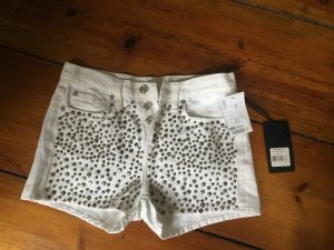 7 For All Mankind Spijkershort wit-zilver