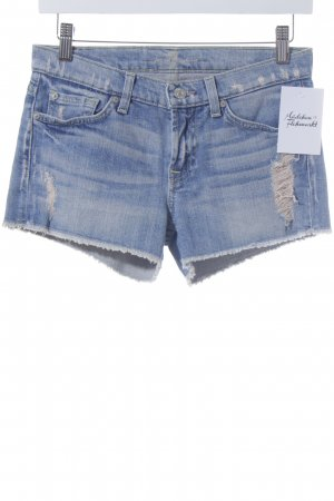 7 For All Mankind Shorts hellblau Used-Optik