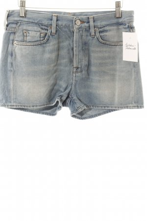 7 For All Mankind Shorts hellblau Washed-Optik