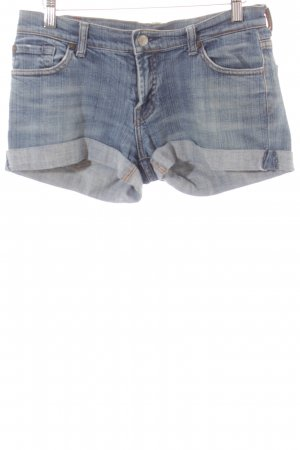 7 For All Mankind Shorts hellblau-wollweiß Washed-Optik